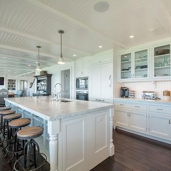 Kitchen Island Shelves, Cottage, kitchen, Hamptons Habitat
