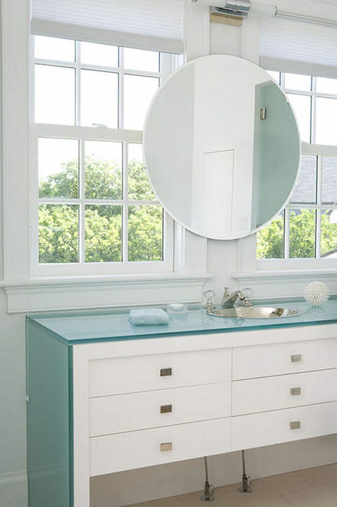 Bathroom Mirrors Over Windows windows over vanity design ideas