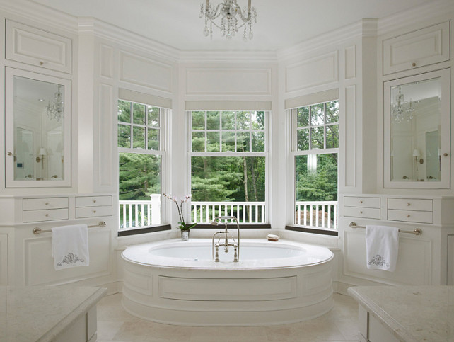 Bay Window Bathtub - Transitional - bathroom - Brooks & Falotico