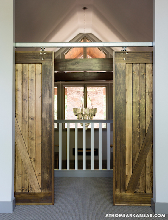 Interior Barn Doors Cottage Entrance Foyer At Home
