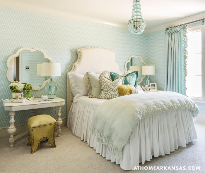 Turquoise Bedroom - Transitional - girl\'s room - At Home in ...