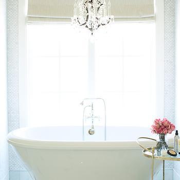 Bathtub Nook Ideas, Transitional, bathroom, Pink Peonies