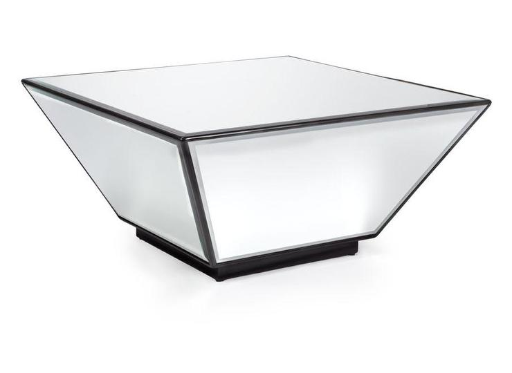 square wedge black coffee table