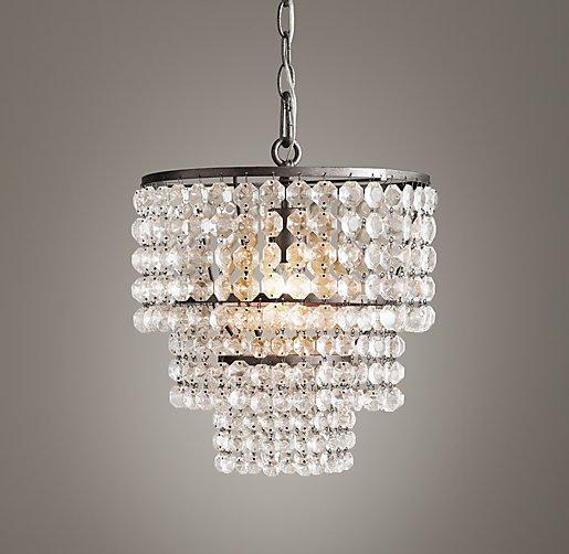 Clear Crystal Small Chandelier