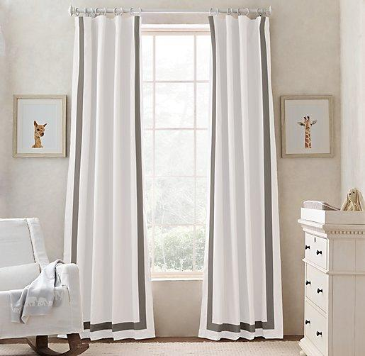Window Treatments Gray Matelasse Curtains