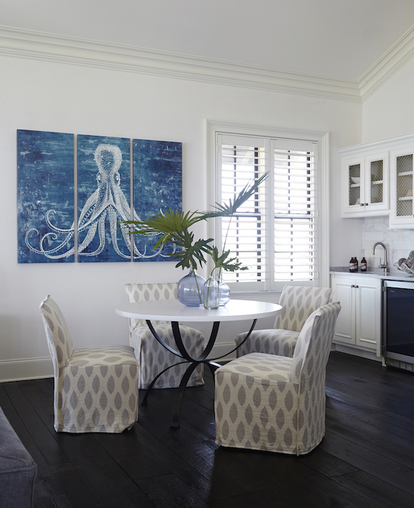 Octopus Triptych - Cottage - dining room - Tracery Interiors