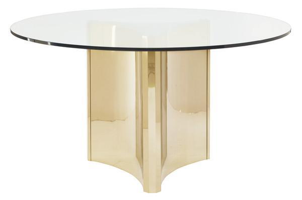 Bernhardt Abbot Brass Round Dining Table
