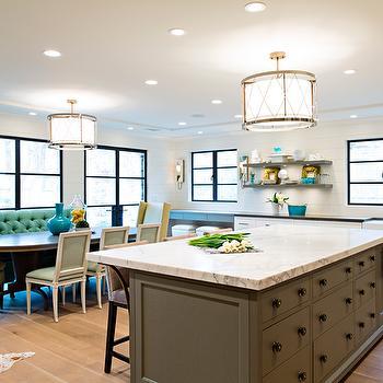 Dining Table Sofa, Transitional, kitchen, Elizabeth Kimberly Design