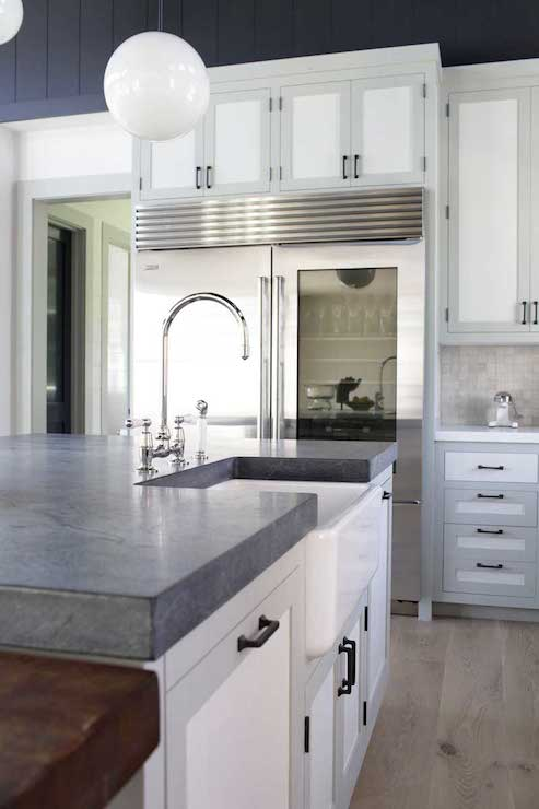 Two Tone Cabinets Transitional Kitchen Dan Scotti Design