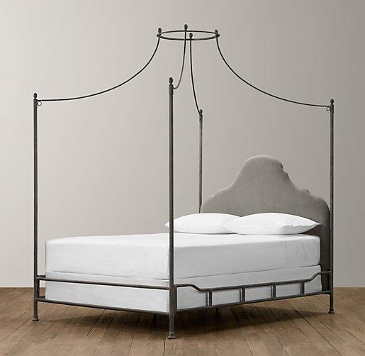 Allegra Iron Grey Canopy Bed view full size & Caleigh Black Iron Canopy Bed