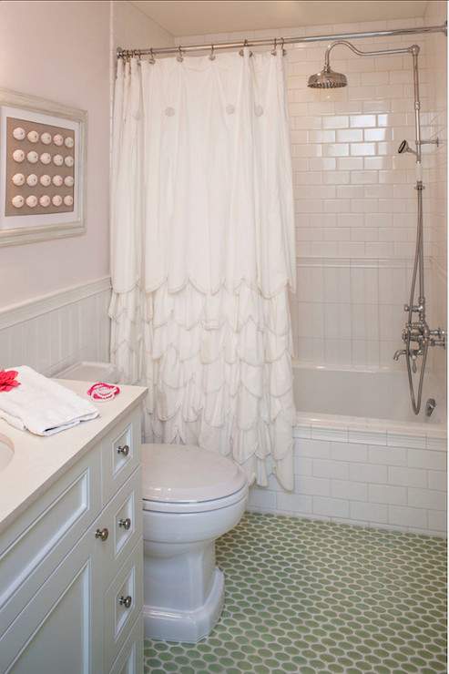 Scalloped Shower Curtain Cottage Bathroom Norman Design Group