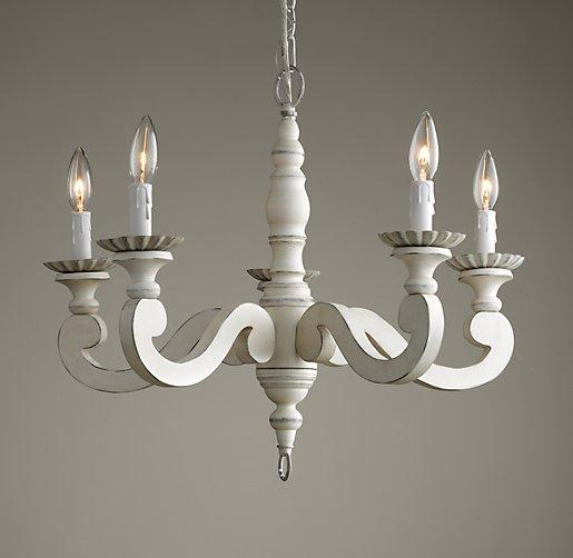 Etienne White Chandelier
