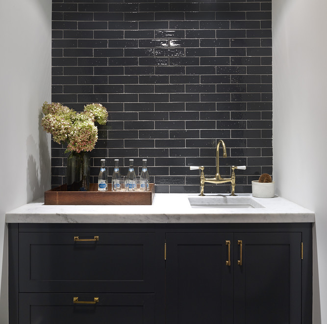 Black Kitchen Cabinets With Brass Hardware Contemporary