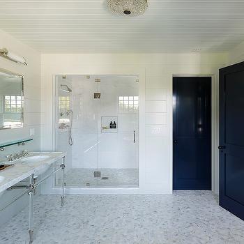 Lucite Washstand, Transitional, bathroom, Dan Scotti Design