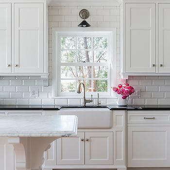 Kitchen With Beveled Subway Tiles