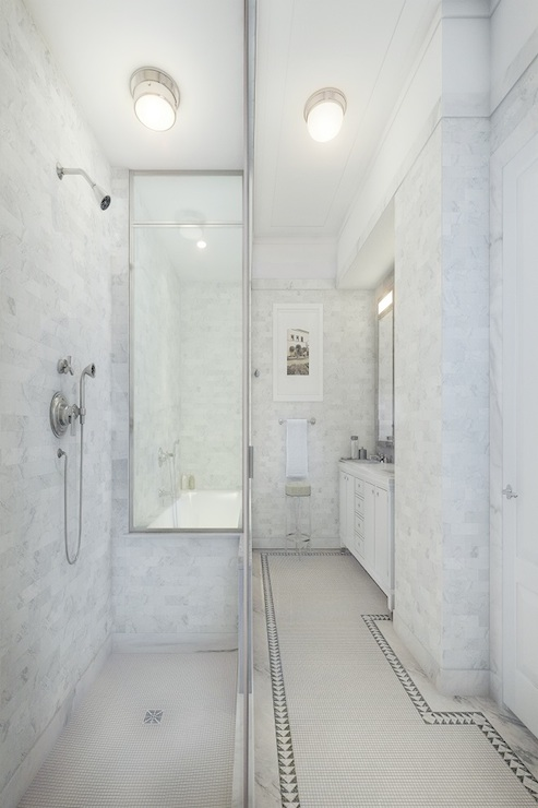 Narrow Bathroom Ideas Transitional Bathroom Corcoran