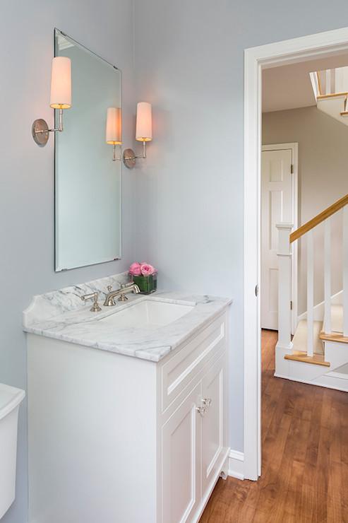 hudson valley lighting dillon sconce transitional bathroom