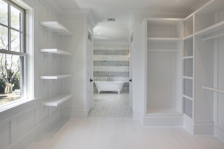 Walk in closet built ins design ideas for Master bathroom designs with walk in closets