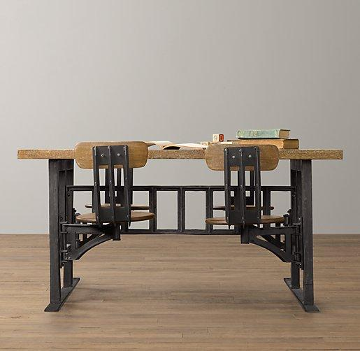 Exceptional Vintage Cafeteria Black And Brown Play Table