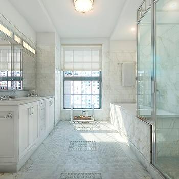 Tub and Shower Side by Side, Transitional, bathroom, Corcoran
