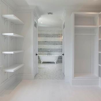 Walk through closet design ideas Tile in master bedroom closet