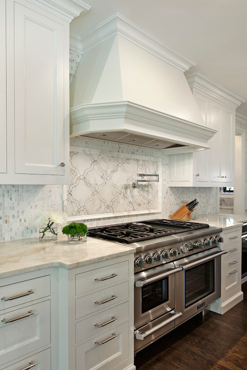 Countertops Are Fantasy Brown Granite The Backsplash Is Marble
