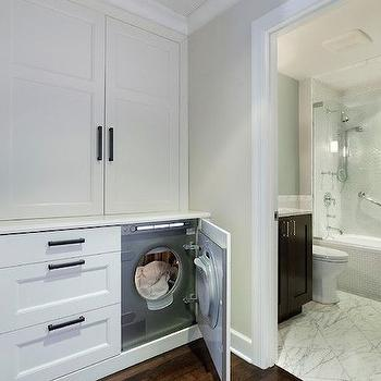 Hidden Washer and Dryer, Transitional, laundry room, 2 Design Group