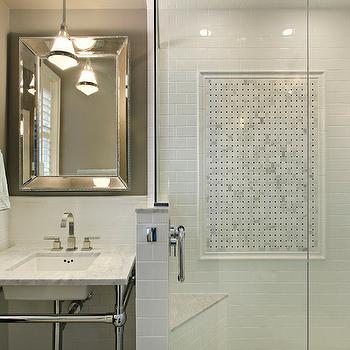 white and taupe bathrooms - transitional - bathroom