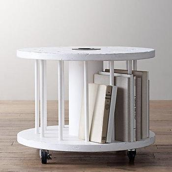 Vintage Spool Side Table I RH Baby and Child