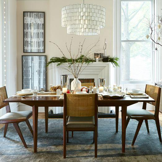 Emmerson Industrial Expandable Brown Dining Table