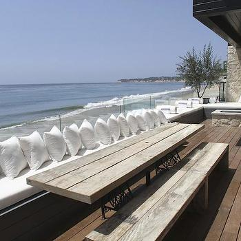 Glass Deck Railing, Cottage, deck/patio, The Stone House Malibu