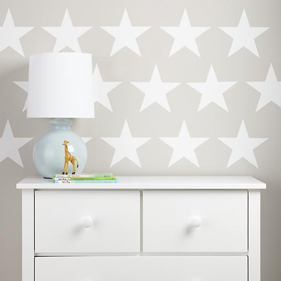 Star Bright White Wall Decal