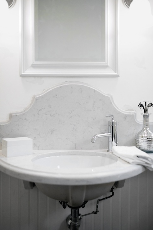 Half Moon Sink Transitional Bathroom Lukas Machnik