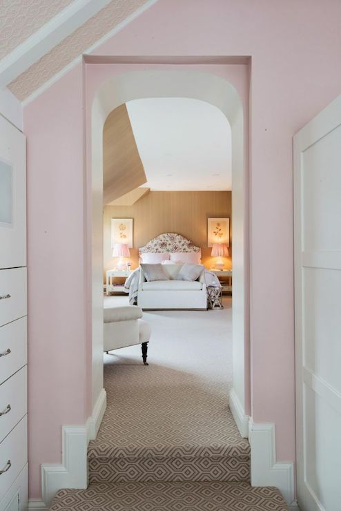 Step Down Closet Transitional Bedroom Lindsey Coral