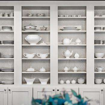 Gray Dining Room China Cabinet Design Ideas
