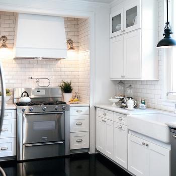 Stainless Steel Herringbone Tiles Contemporary Kitchen