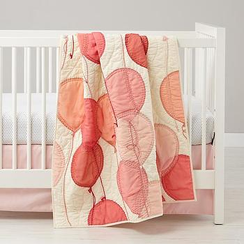 Surprise Party Balloon Pattern Baby Quilt, The Land of Nod