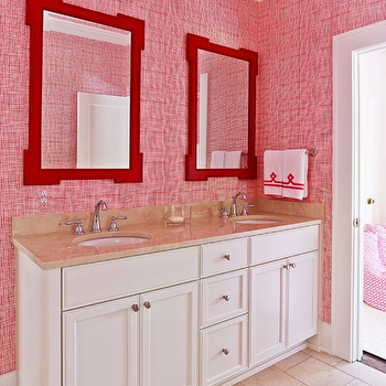 Red Bathroom Vanity Design Ideas
