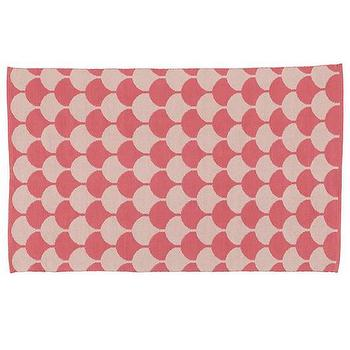 Half Shell Scallop Pattern Rug (Pink), The Land of Nod