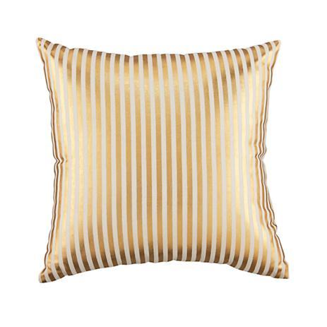 Metallic Pinstripe Throw Pillow (Gold) - The Land of Nod
