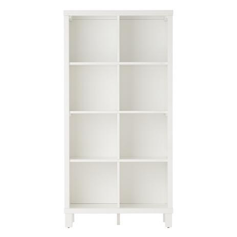 Eight Cube White Tall Bookcase
