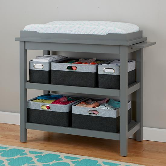 Baby Relax Emma Grey Crib And Changing Table Combo