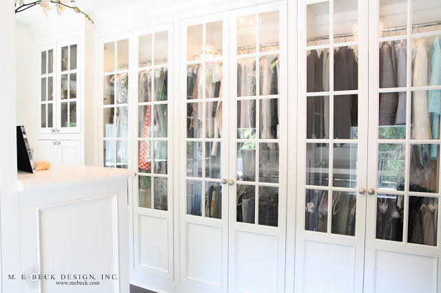 Glass Front Closet Doors Transitional Closet M E Beck Design