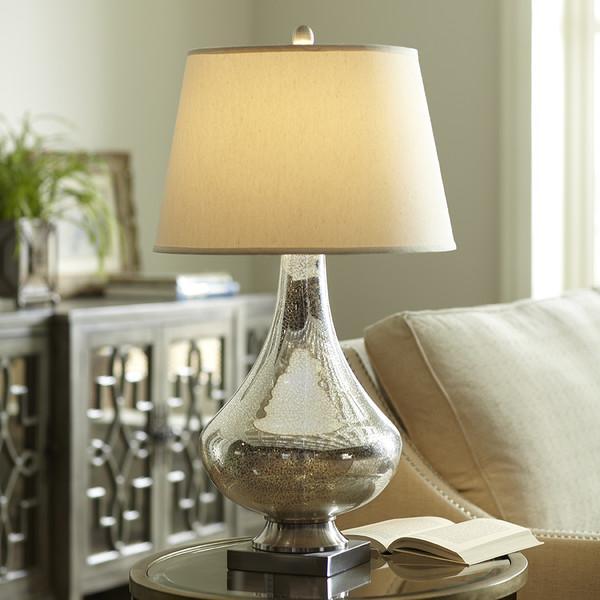 birch lane copley mercury glass silver table lamp