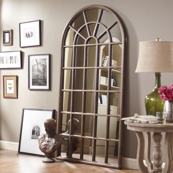 Birch Lane Shaw Brown Floor Mirror