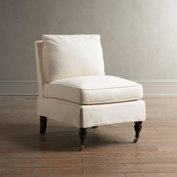 Upholstered Slipper Chair West Elm