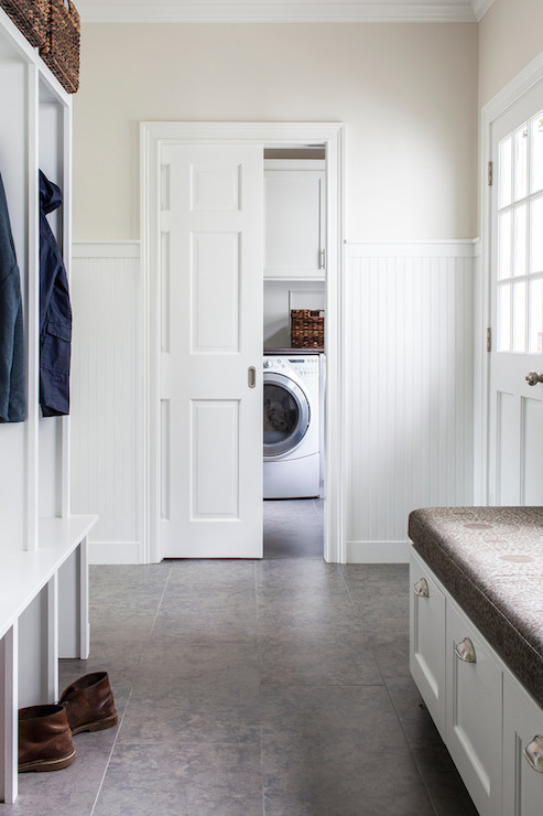 Beadboard Wainscoting Transitional Laundry Room Lda