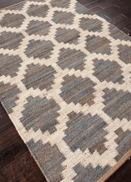 Jute Navy And Gray Border Rug