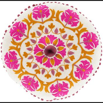 Suzani Burnt Orange & Magenta Pillow design by Surya I Burke Decor