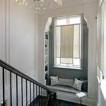 Landing Window Seat, Transitional, entrance/foyer, Tomas Pearce Interior Design